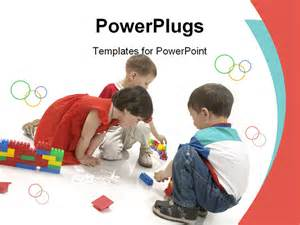 free children powerpoint templates boys and are play the powerpoint template