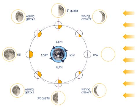 phases of the moon diagram for phases of the moon diagram www imgkid the image