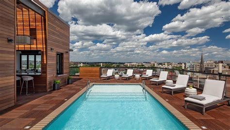 roof top bars in dc rooftop pools dc kimpton mason rook hotel