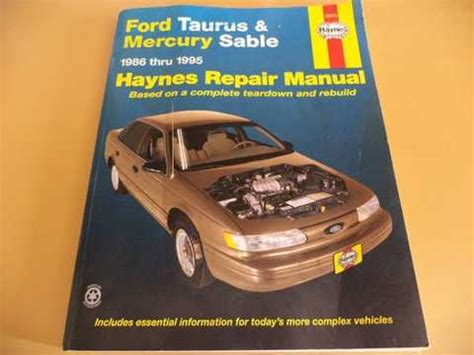 service manual manual repair free 1994 mercury sable electronic valve timing 1997 mercury service manual auto repair manual free download 1988 ford taurus instrument cluster 28 1994