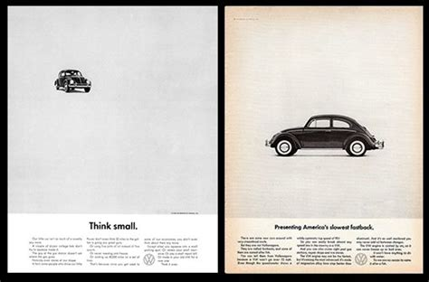 volkswagen think small the greatest print caigns of all time volkswagen think