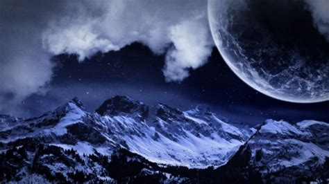 wallpapers frozen planet frozen night fantasy abstract background wallpapers on