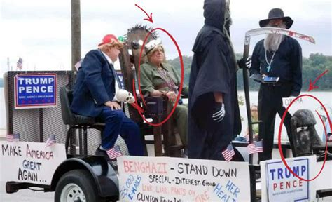 Parade Float Shows Trump Executing Clinton Americans Are Indiana Parade Float Depicts Obama In Toilet And Words