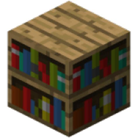 bookshelf minecraft item id crafting list wiki