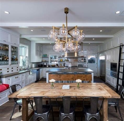 Rustic Kitchen Decorating Ideas rustic glam kitchen love this kitchen amp dining room