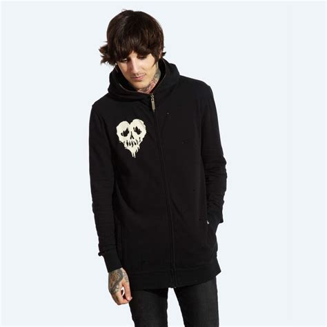 Hoodie Sweater Dropdead Oliver drop dead clothing standard zip up hoody