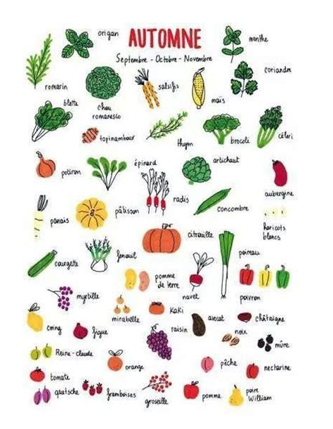 seasonal pattern en francais fruits et l 233 gumes d automne fle lexique pinterest fruit