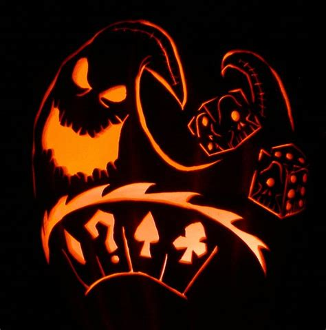 printable pumpkin stencils oogie boogie oogie boogie dice carving by captain sparrow on deviantart