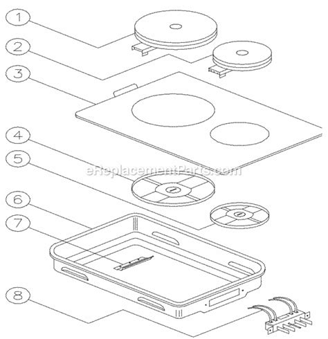 Dacor Cooktop Repair dacor em6 parts list and diagram ereplacementparts