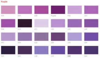 purple color chart custom creations
