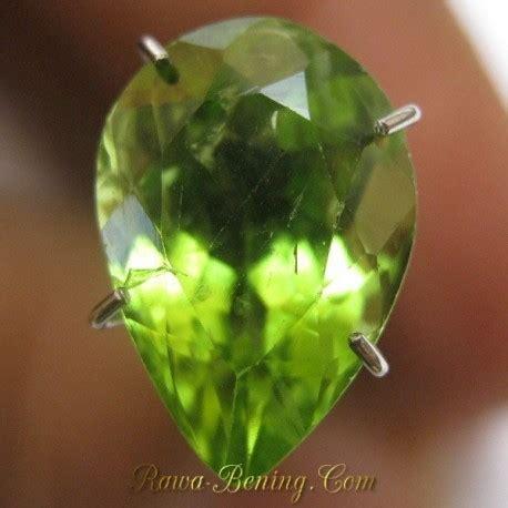 Promo Cincin Berlian Hitamnatural Ring Emas 41 batu permata peridot bentuk tetes air 3 35 carat