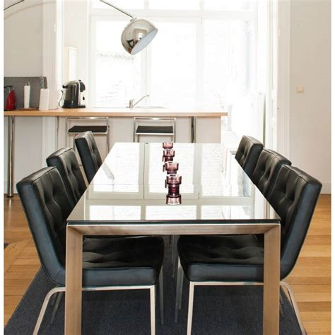 table design rectangulaire avec rallonge mona en verre