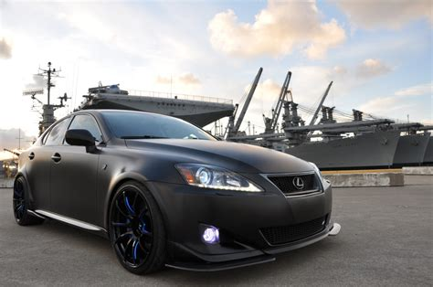lexus rc 350 matte black tuned matte black wide lexus is350