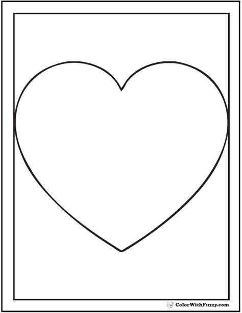 coloring page heart shape shape coloring pages customize and print