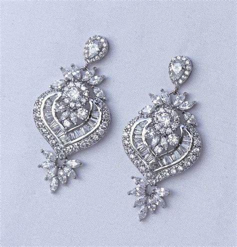 Clip Chandelier Earrings Chandelier Earrings Bridal Earrings Clip On Or Post Earring Option Earrings