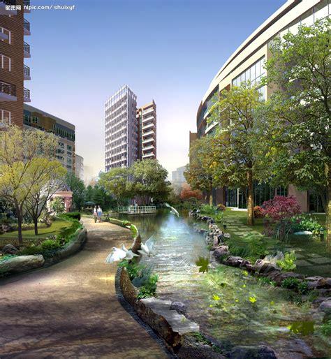 Landscape Design Rendering 道路景观效果图源文件 景观设计 环境设计 源文件图库 昵图网nipic