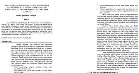 format laporan analisis jurnal budi setianto review jurnal 9 analisis laporan