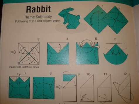 How To Fold Origami Rabbit - origami bunny d yay 183 how to fold an origami rabbit