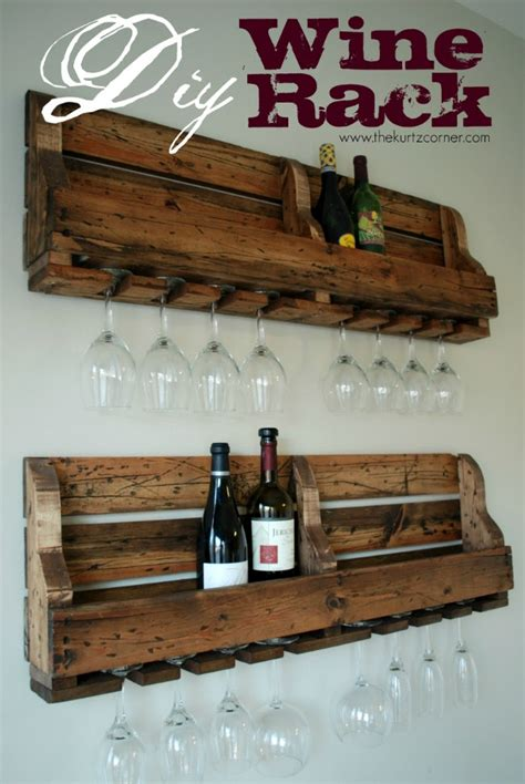 how to make a wine rack in a kitchen cabinet the kurtz corner diy rustic wine rack
