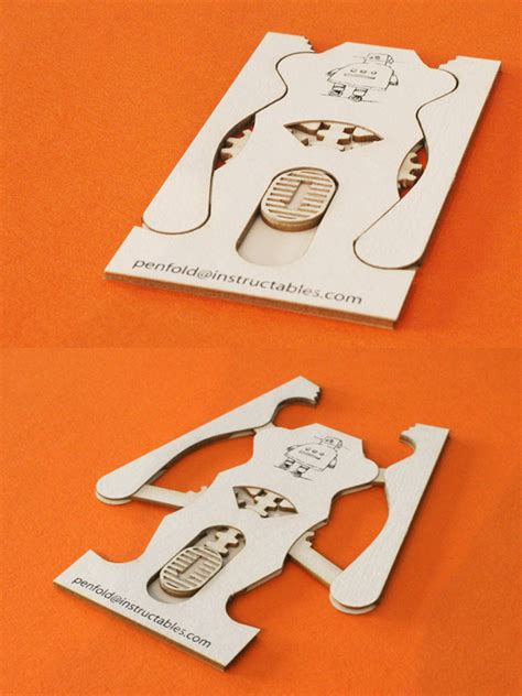 laser cut business card templates penfold lab s unique laser cut robotic claw business card