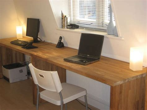 Countertop Desk Ideas Big Oak Desk From Kitchen Worktops Ikea Office Countertops And Desk Ideas