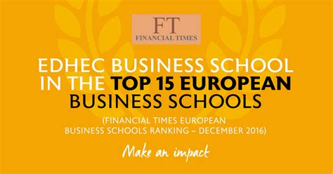 Ft Mba Rankings 2015 Europe by Ft 2016 European Business School Rankings Edhec Enters