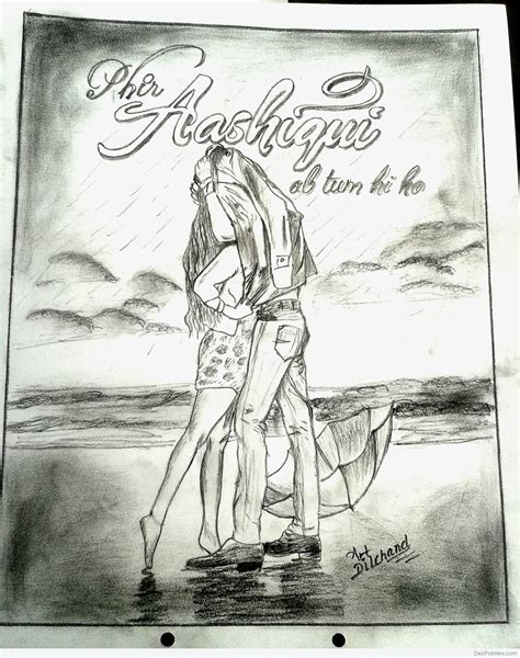 Aashiqui 2 Sketches by Pencil Sketch Of Aashiqui 2 Desipainters