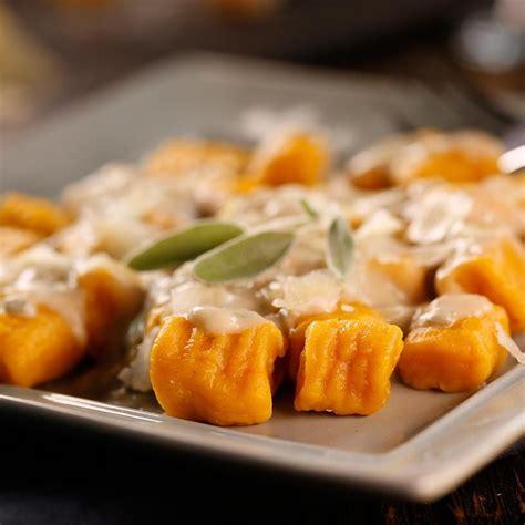 sweet potato gnocchi with sage cream sauce recipe eatingwell