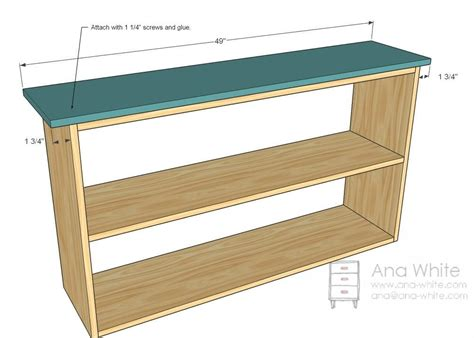 simple bookshelf plans attach the top crafts