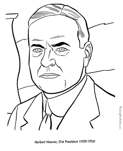 free printable coloring pages of us presidents free printable president herbert hoover coloring pages