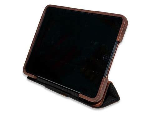handmade wooden ipad mini case  leather cover