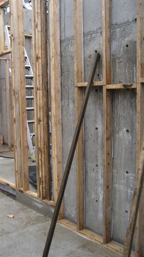 structure stud wall at concrete 171 home building in vancouver