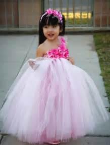 Dress Pink Tutu Flower light pink flower tutu dress 2014 outfit4girls