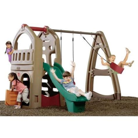 step2 climber and swing set 754300 the home depot