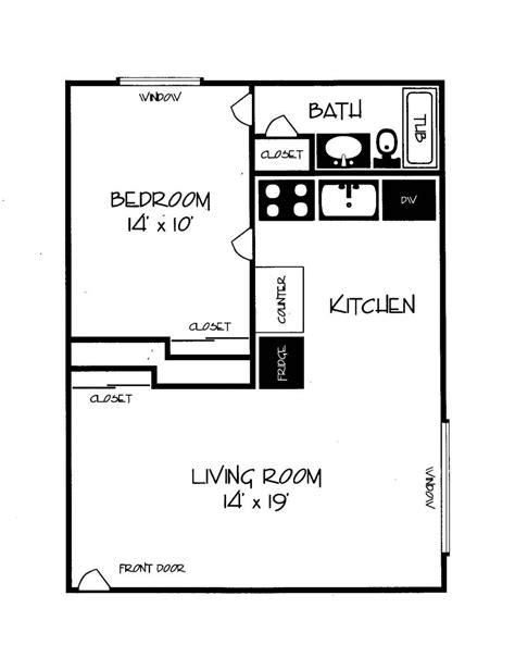 Woodhill Apartments Cb Management One Bedroom Design Layout