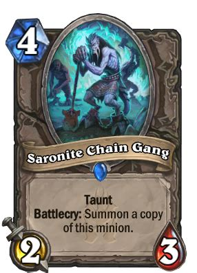 saronite chain gang hearthstone wiki