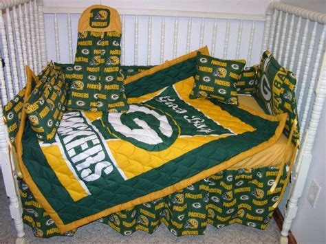 green bay packers bedding new crib bedding m w green bay packers fabric