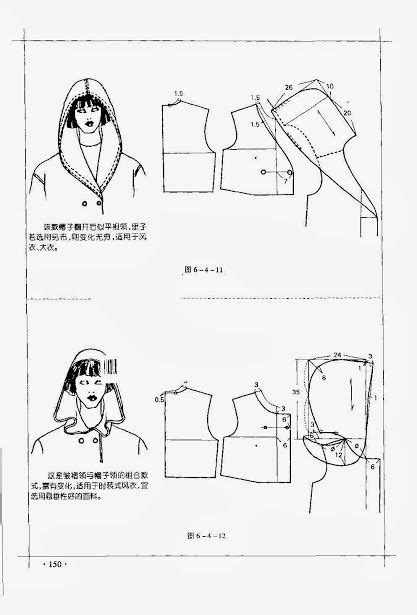 pattern drafting hood chinese method of pattern making it s my hobby capuche