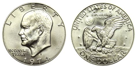 composition of dollar coin 1974 s eisenhower dollars silver clad clad composition