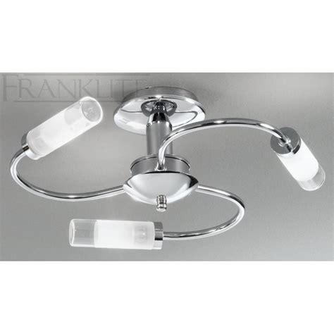franklite fl2254 3 semi flush chrome bathroom ceiling
