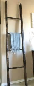 decorative ladder for blankets blanket ladder wooden ladder decorative ladder by