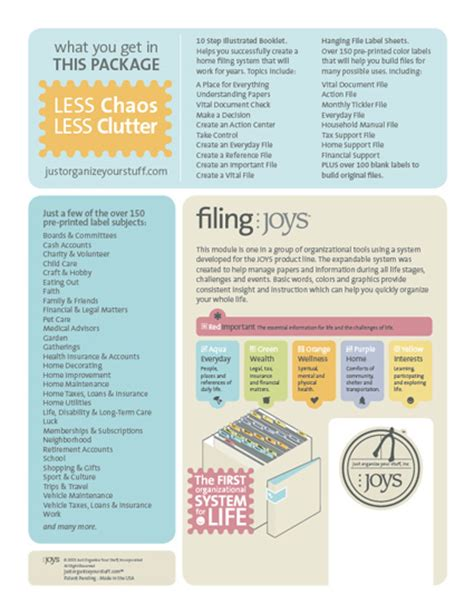 filing joys home filing system