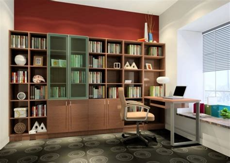 study room furniture wallpaper bookcase design