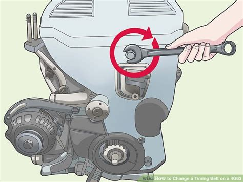 mitsubishi timing belt change how to change a timing belt on a 4g63 10 steps with