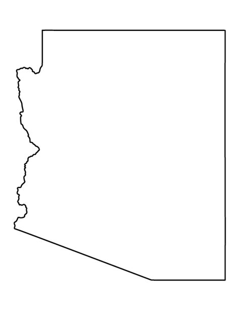arizona state map outline printable arizona template