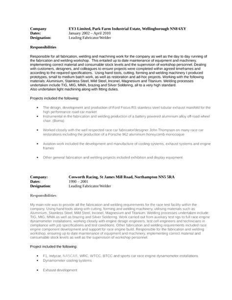 resume format welder fabricator modern welder fabricator resume template page 3