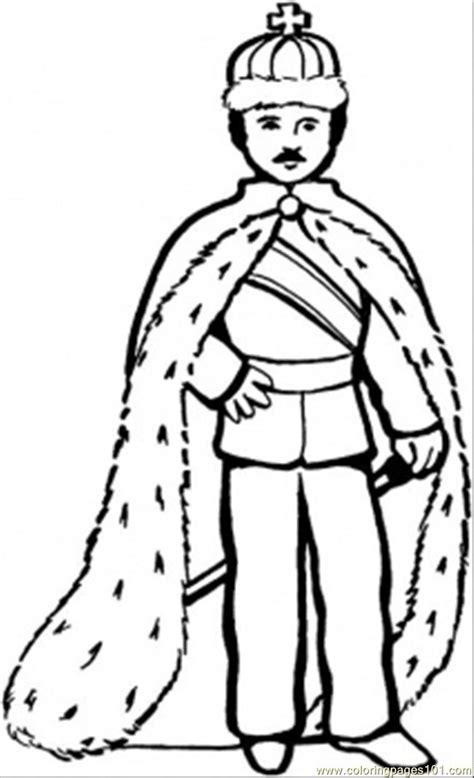 free royal king coloring pages