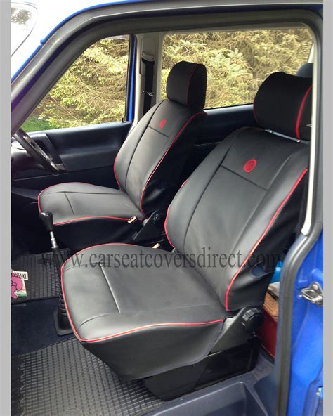 Vw T4 Seat Upholstery by Vw T4 Seat Covers Black With Piping Car Seat Covers