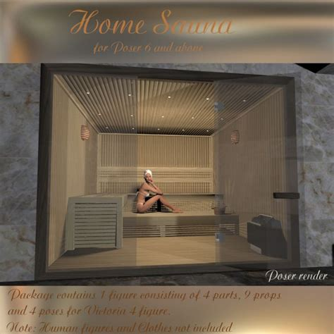 home sauna aj home sauna architecture for poser and daz studio