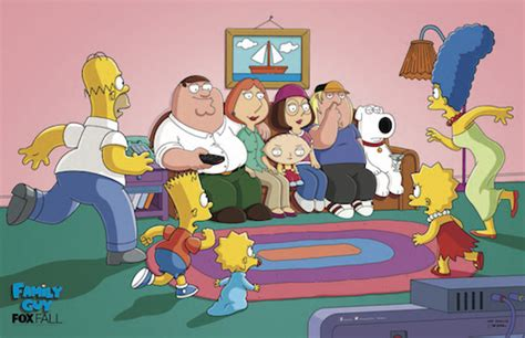 family guy couch the simpsons